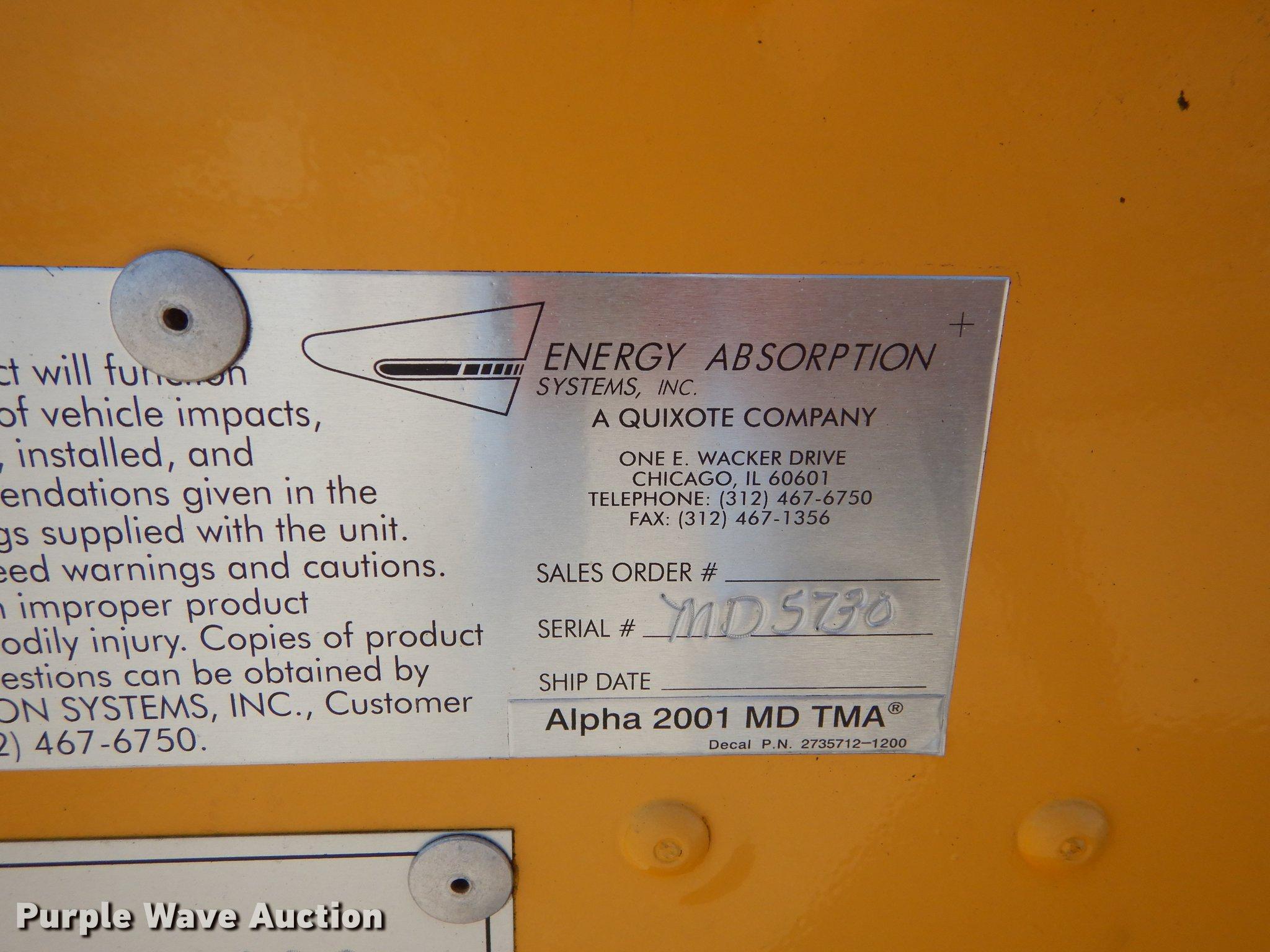 2005 Energy Absorption Systems crash attenuator | Item EM964