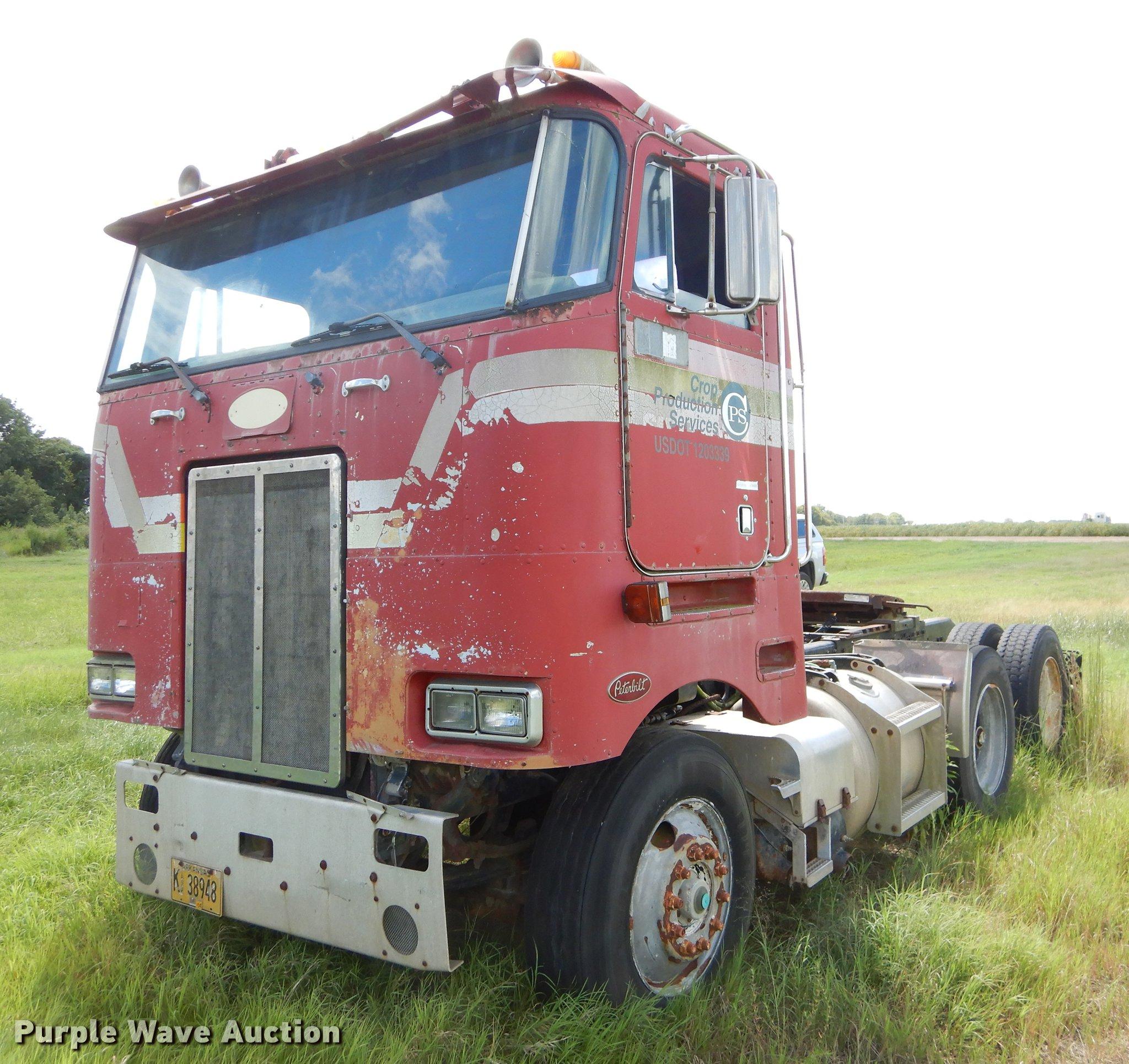 1985 Peterbilt 362 semi truck   Item EO9538   SOLD! Nutrien