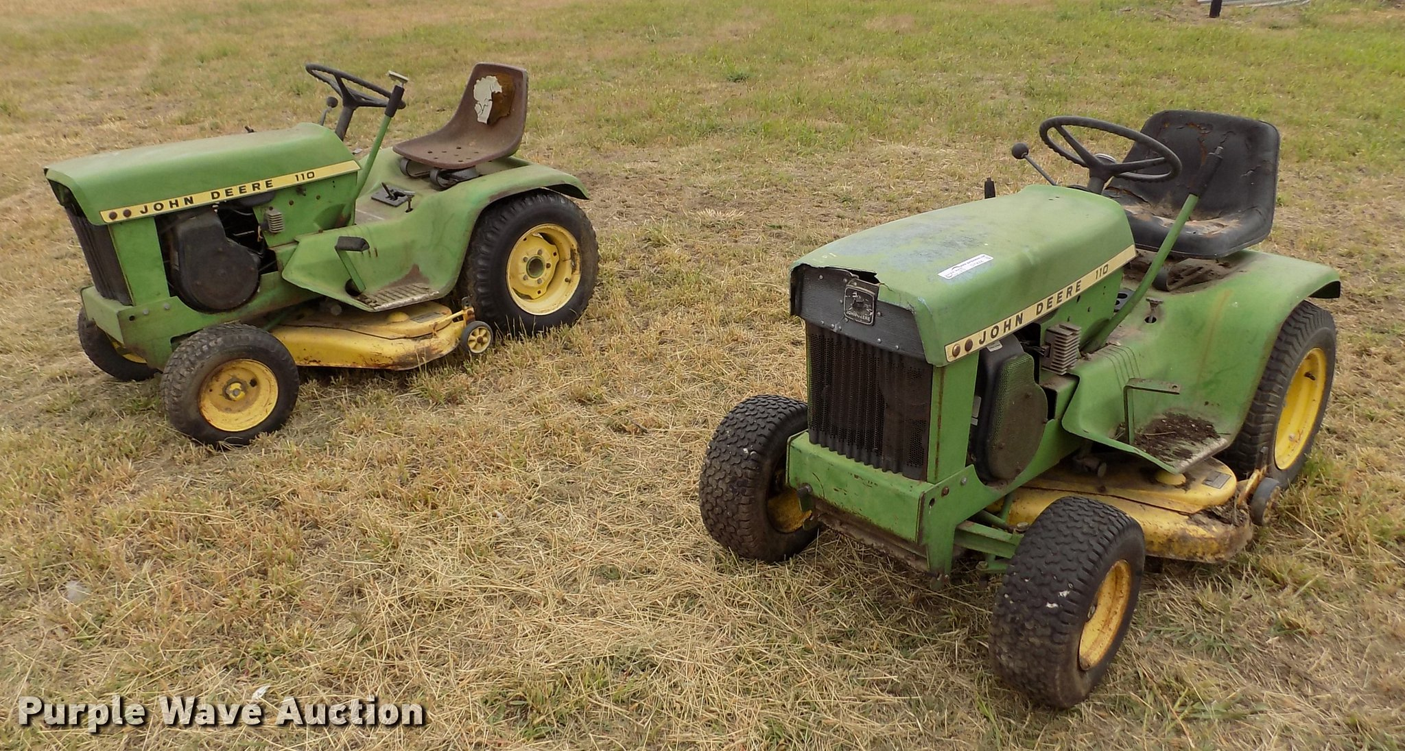 2) John Deere 110 lawn mowers | Item DY9006 | Wednesday Oct...
