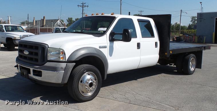 2005 ford f550 super duty xl crew cab flatbed truck item. Black Bedroom Furniture Sets. Home Design Ideas