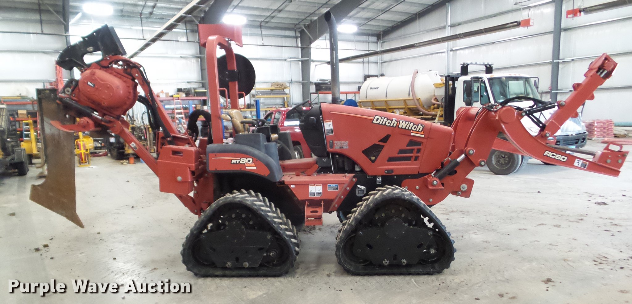 2012 Ditch Witch RT80 Quad cable plow | Item DZ9451 | SOLD!