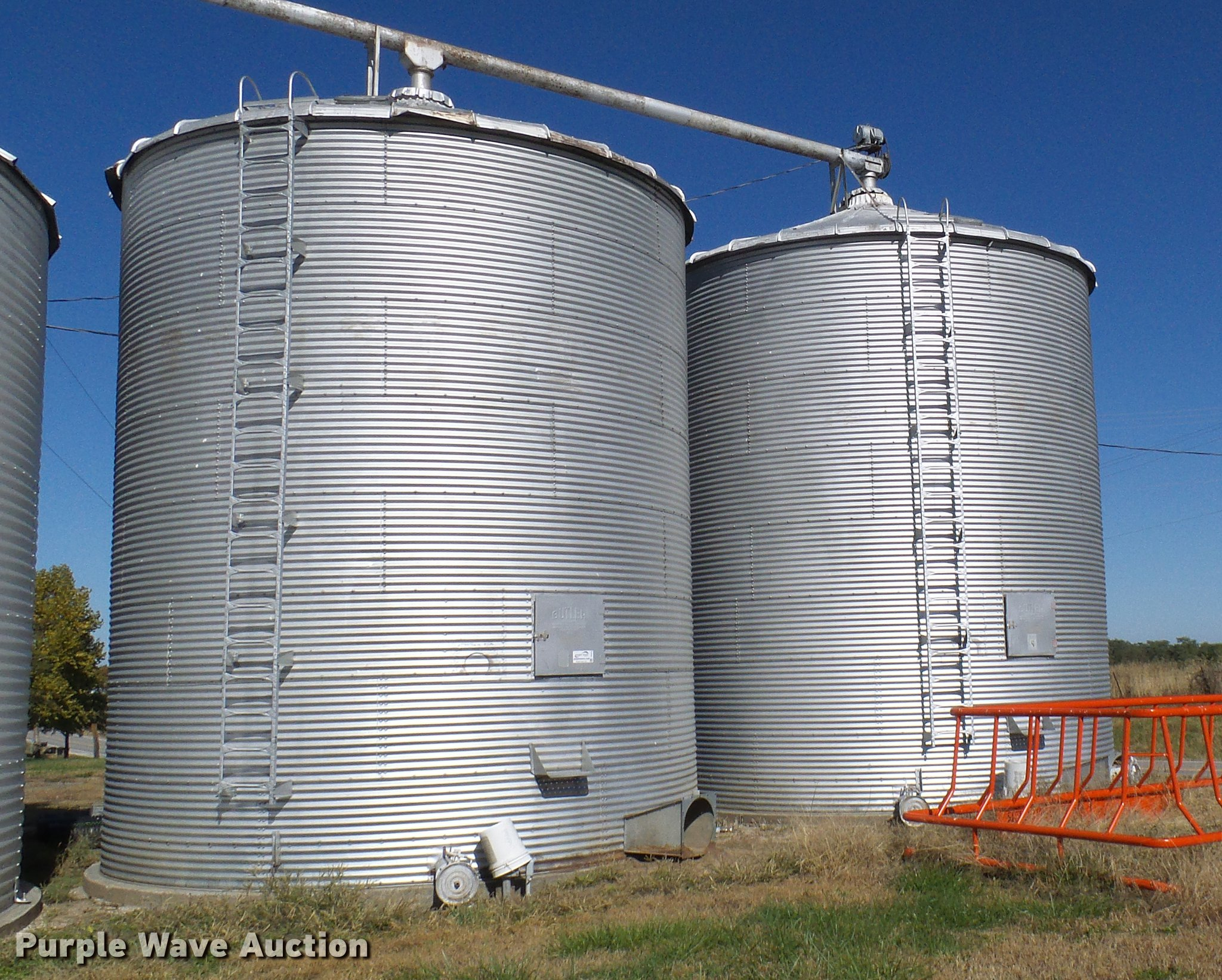 3) Butler grain bins | Item DE5313 | SOLD! November 14 Ag E