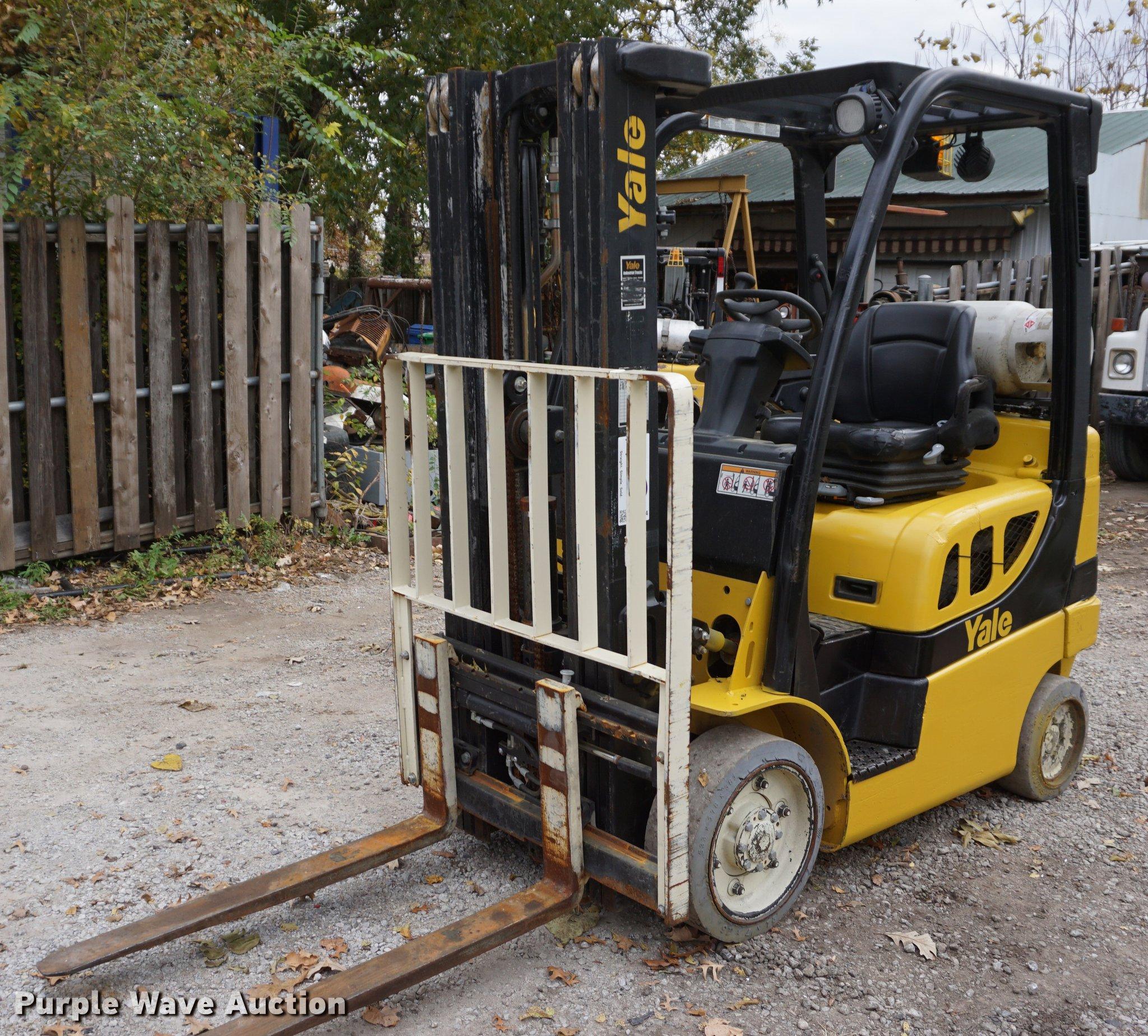 2012 Yale GLC050 forklift | Item DF1574 | SOLD! November 28