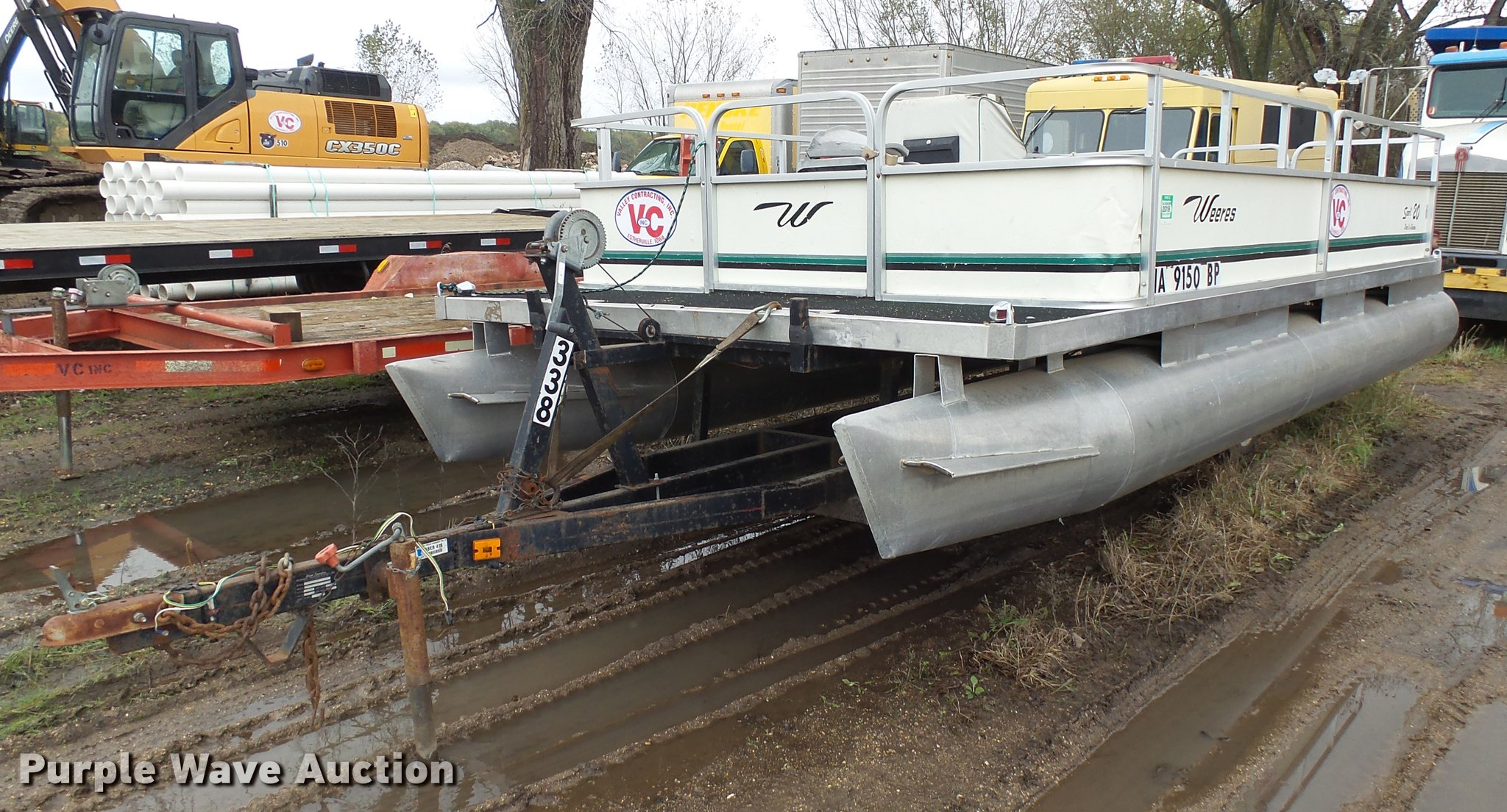 1991 Weeres Sport 20 pontoon boat | Item DX9142 | SOLD! Nove