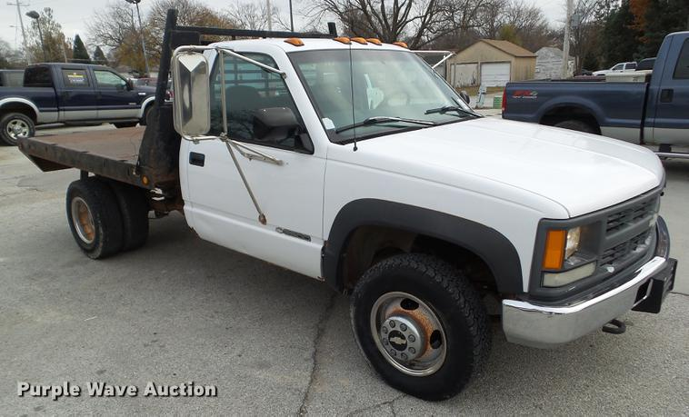 1997 Chevrolet K3500 flatbed pickup truck | Item L5722 | Wed