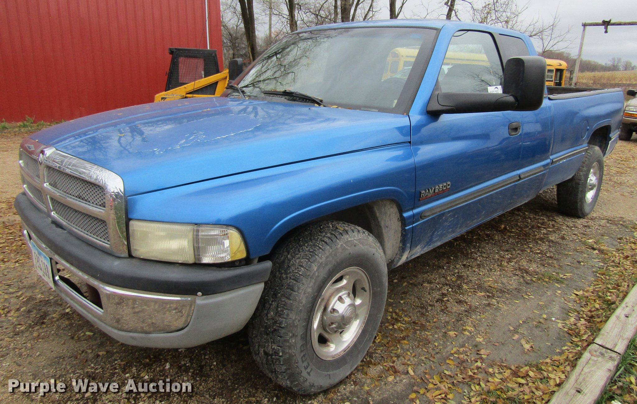 2001 Dodge Ram 2500 Quad Cab Pickup Truck Item Df3891 So