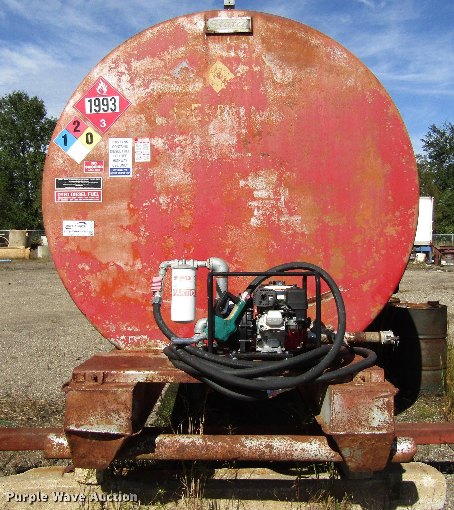 Statco 10,000 gallon fuel tank | Item DC0120 | SOLD! Decembe