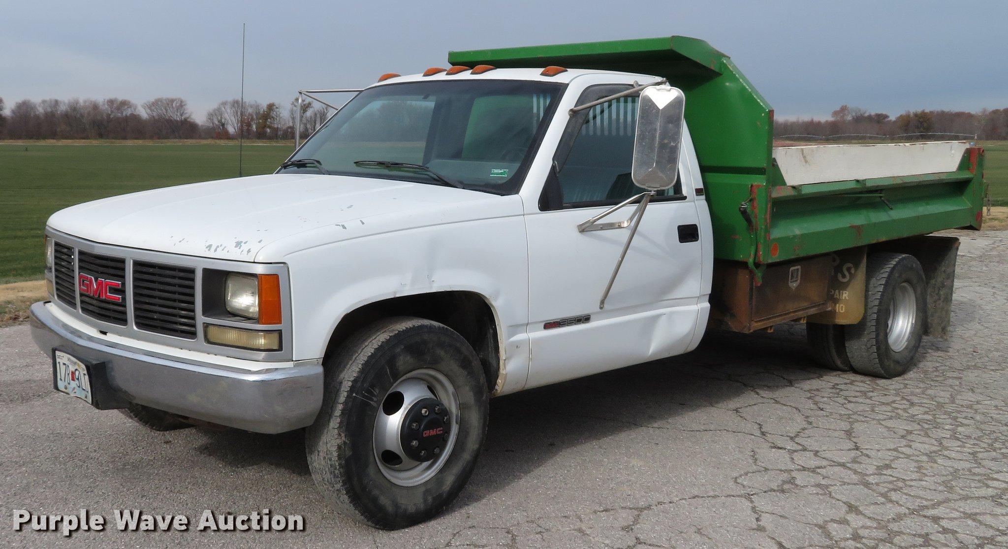 1990 gmc 3500 dump truck