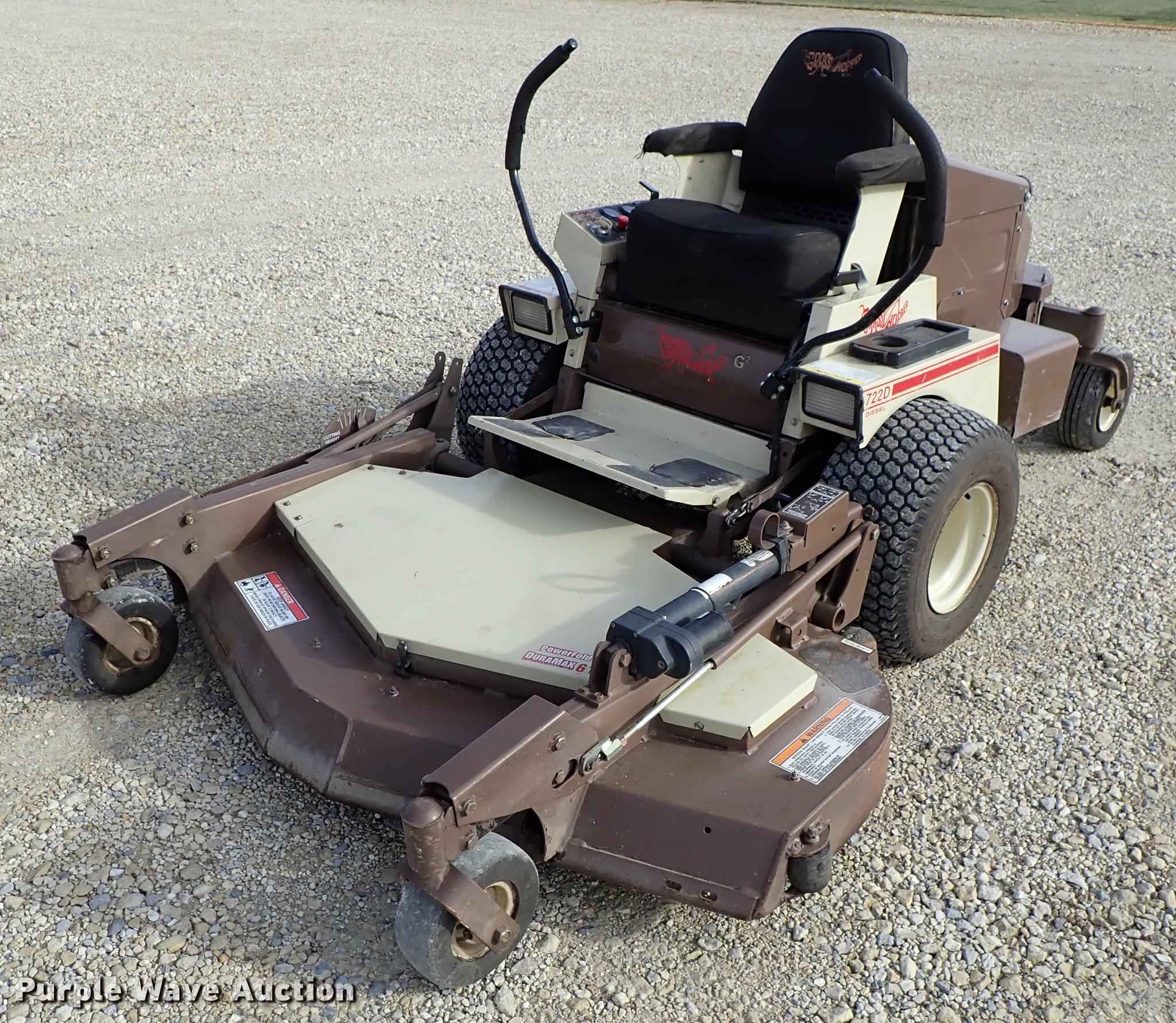 Grasshopper 722D ZTR lawn mower   Item DG2889   SOLD! Decemb