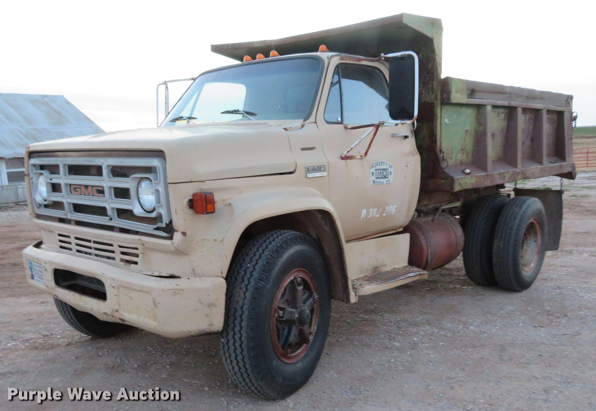 1978 Gmc 6500 Dump Truck In Alva Ok Item De6581 Sold Purple Wave