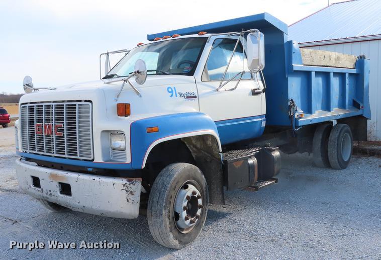1991 GMC TopKick C7500 dump truck   Item DN9147   Wednesday