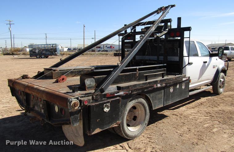 2011 Dodge Ram 5500 Crew Cab flatbed truck | Item DB6921 | W