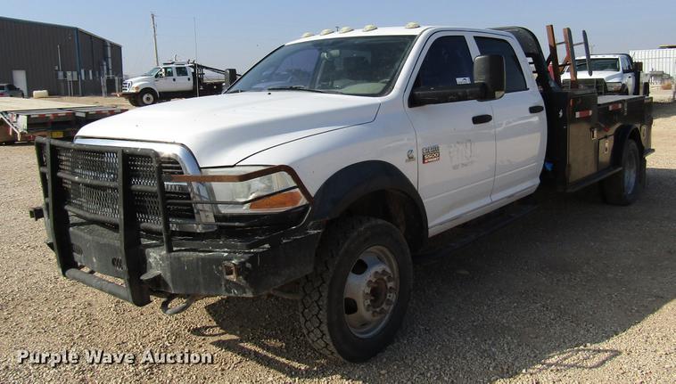 2011 Dodge Ram 5500 Crew Cab flatbed truck | Item DB6941 | S