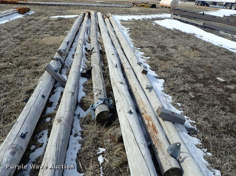10) wood poles | Item FH9723 | SOLD! March 27 Vehicles and