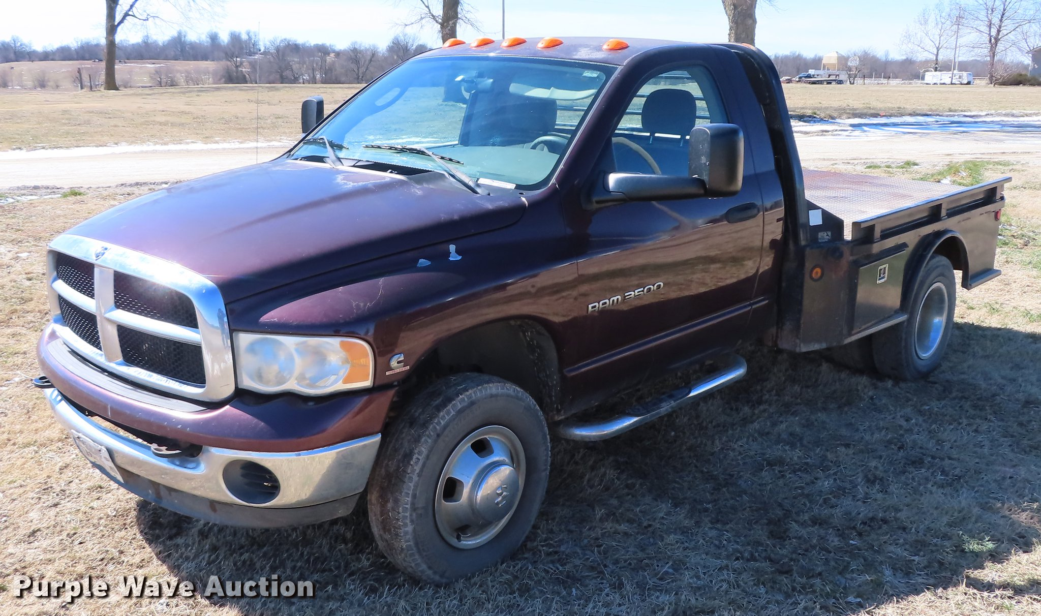 2004 Dodge Ram 3500 Flatbed Pickup Truck In Galena Ks Item Dn9088 Sold Purple Wave