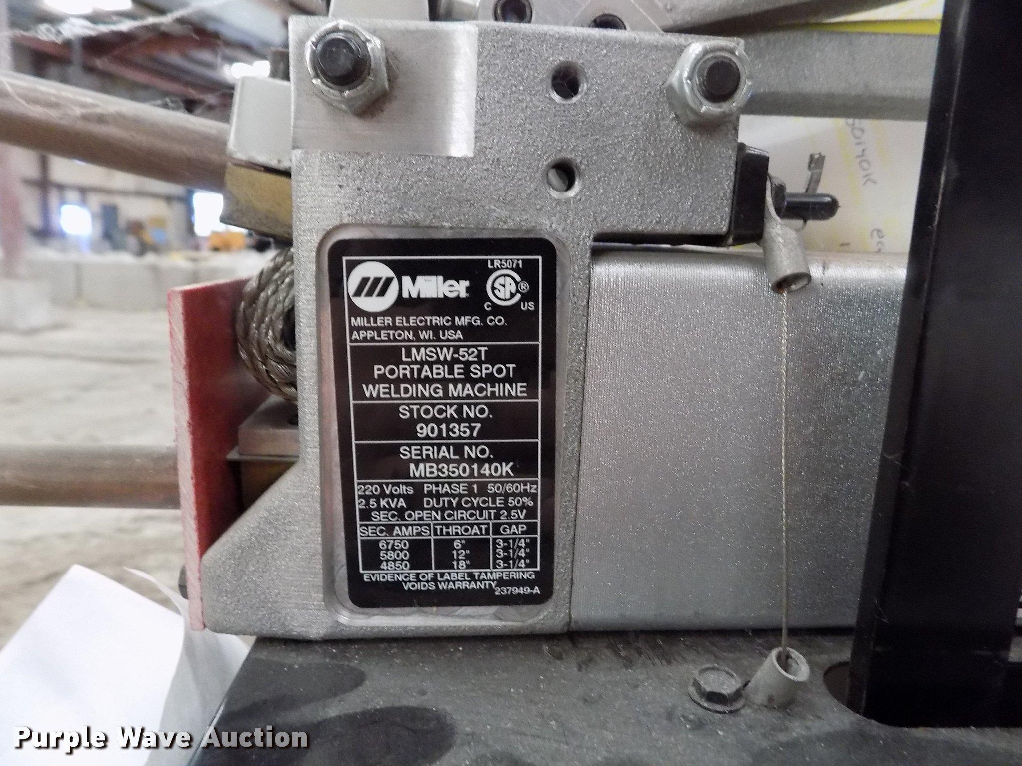 Miller LMSW-52T spot welder | Item FH9196 | Tueday April 2 G