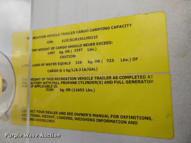 2009 Jayco Eagle 341 RLQS camper | Item FA9625 | Wednesday A