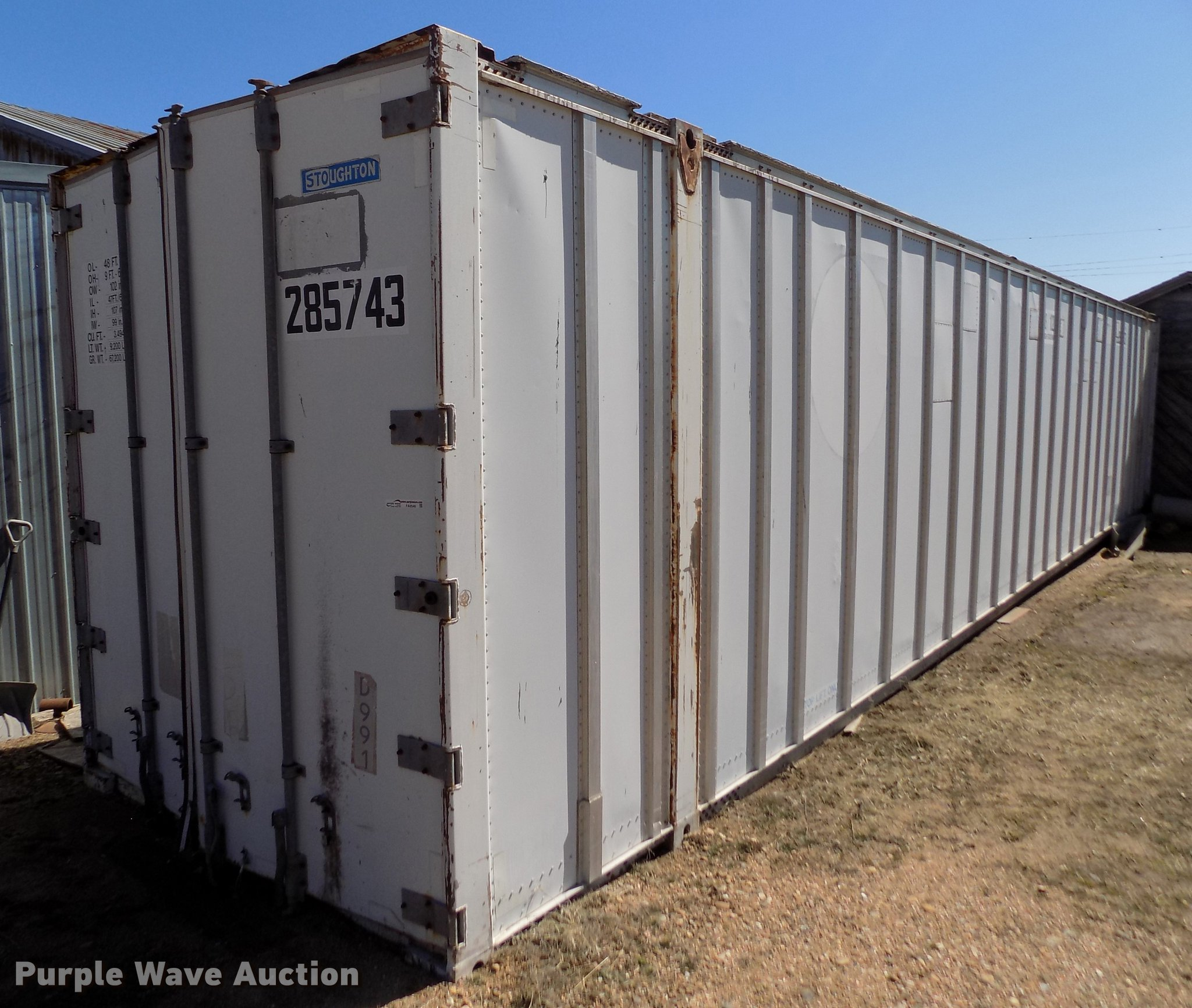 Stoghton shipping container | Item FA9546 | Wednesday April