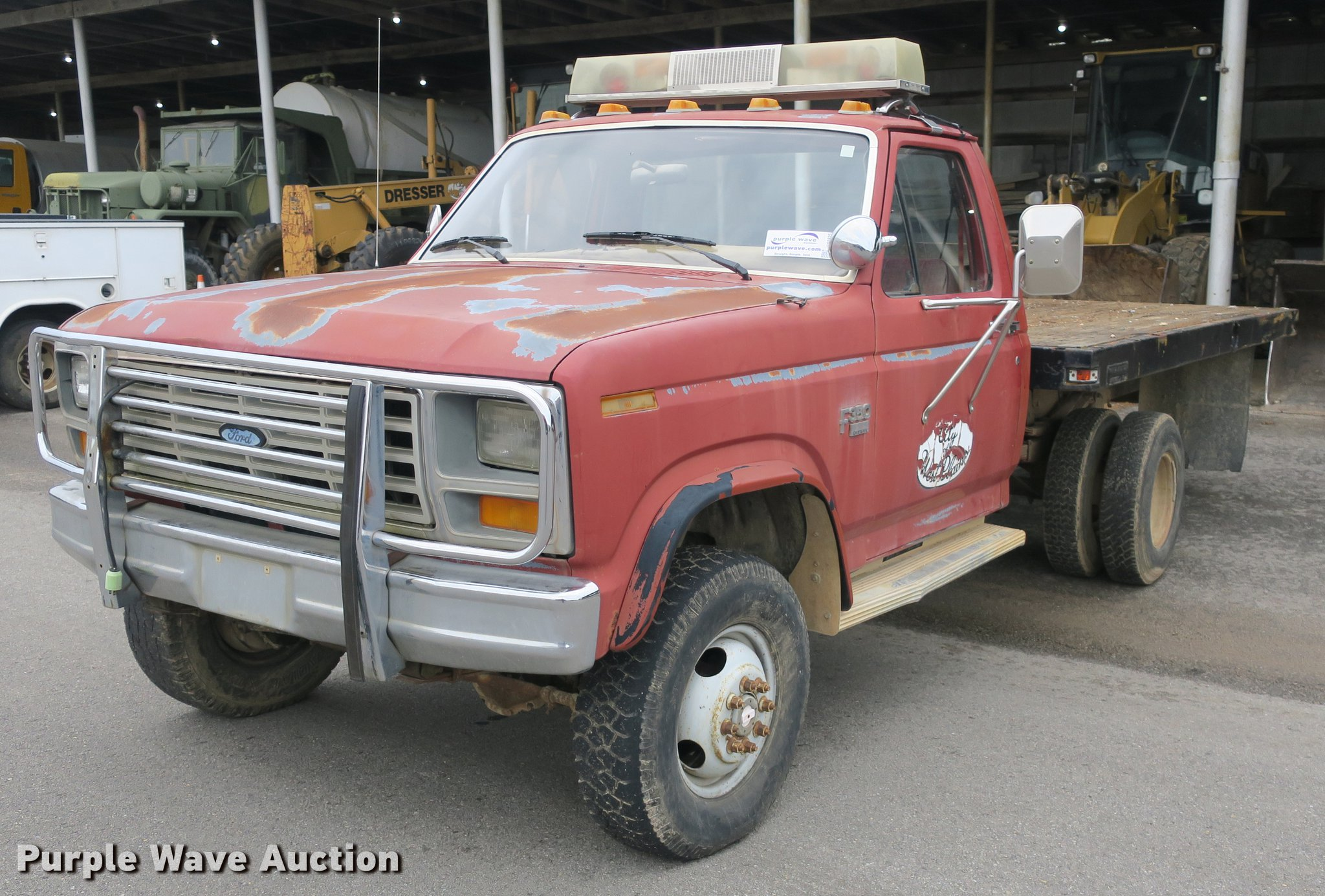 1986 Ford F350 Flatbed Pickup Truck In West Plains Mo Item Db8825 Sold Purple Wave