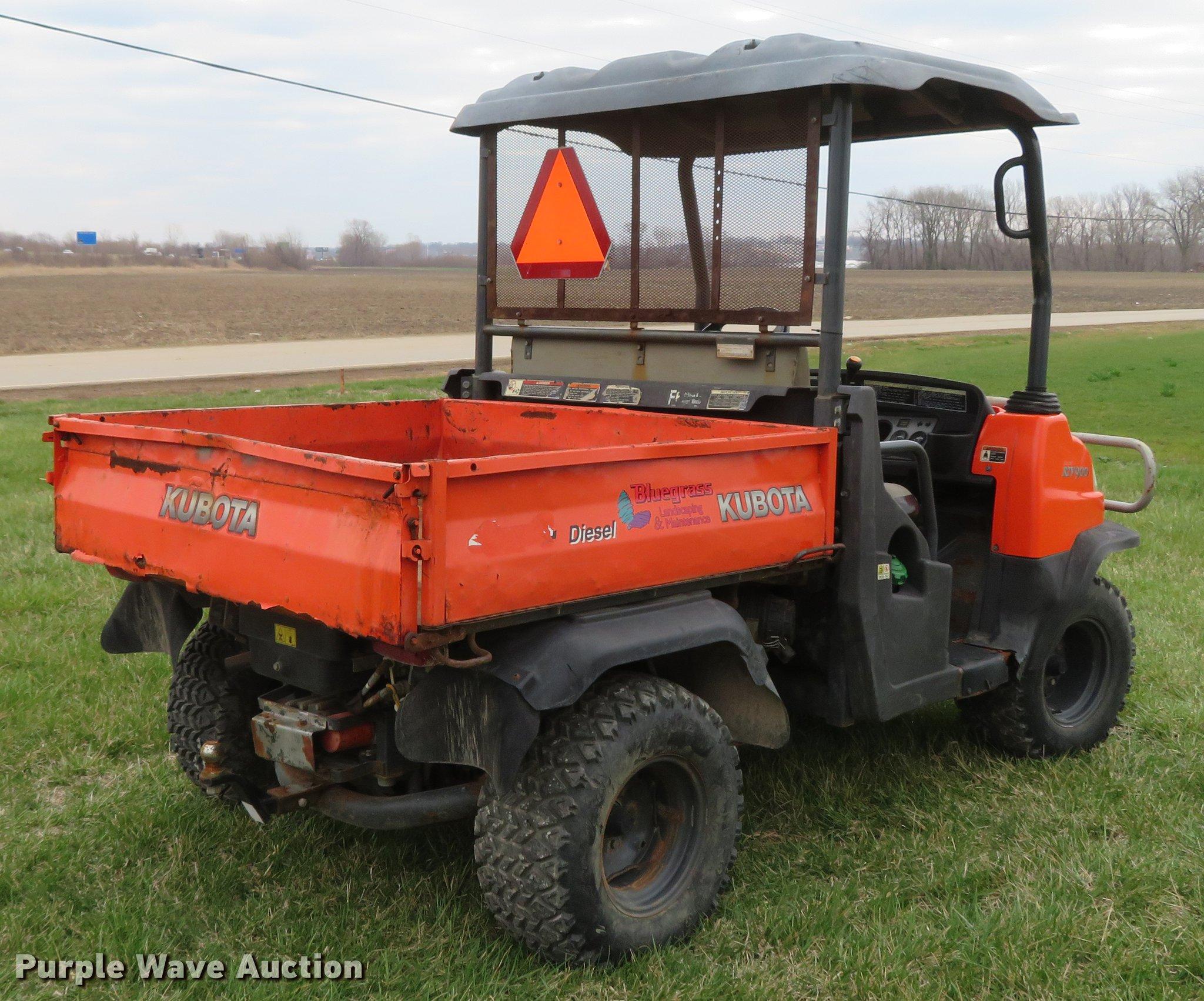 Kubota RTV900 utility vehicle | Item EV9600 | SOLD! May 8 Ve