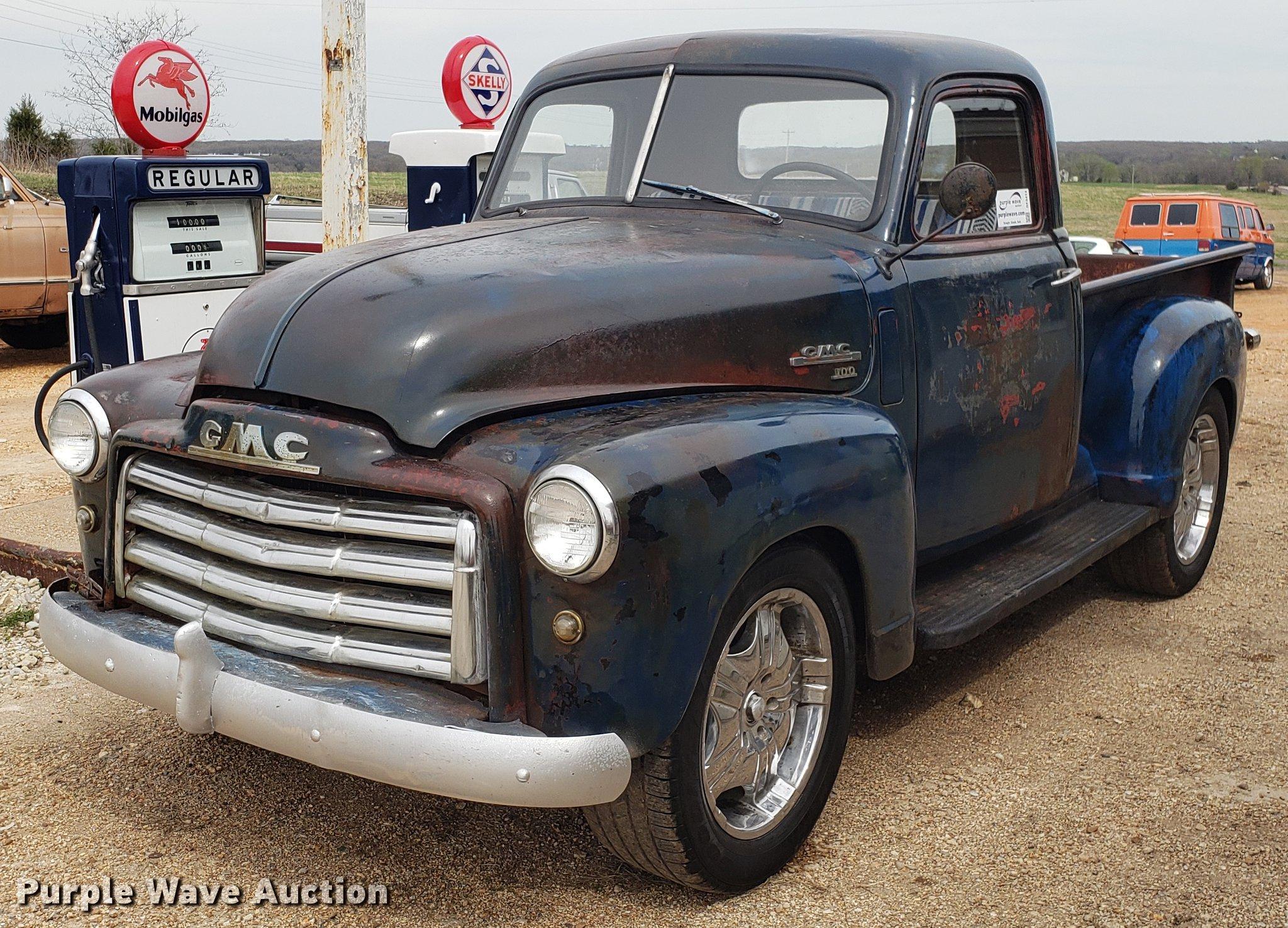 1950 Gmc Pickup Truck In Cole Camp Mo Item Df3413 Sold Purple Wave