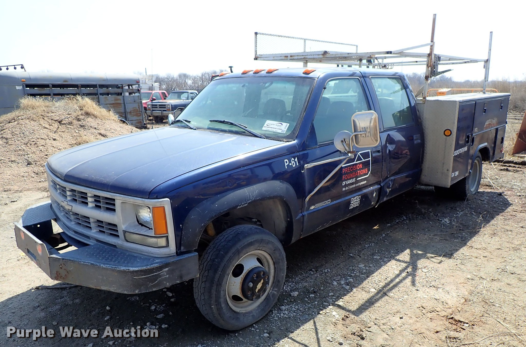 1998 Chevrolet K3500 Crew Cab utility bed pickup truck | Ite