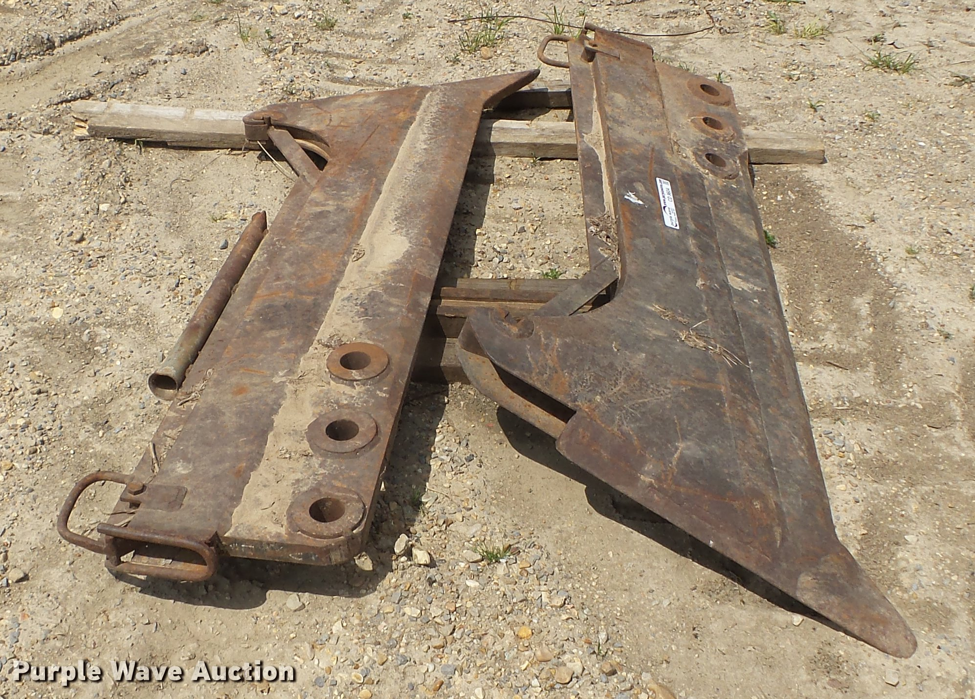 2) vibratory plow blades | Item CD9604 | SOLD! May 23 Const