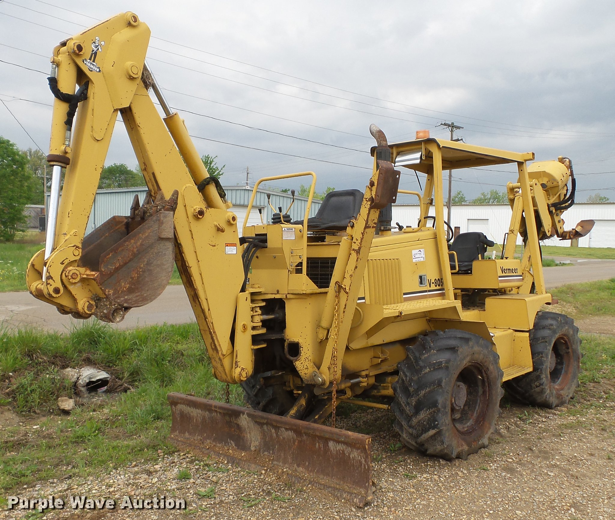 1992 Vermeer V8050 vibratory cable plow | Item DD2269 | SOLD