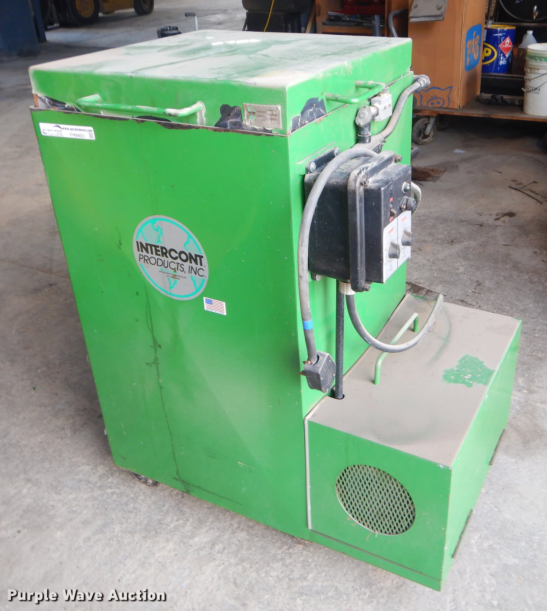 Intercont SPW1 parts washer | Item FH9403 | SOLD! June 4 Gov
