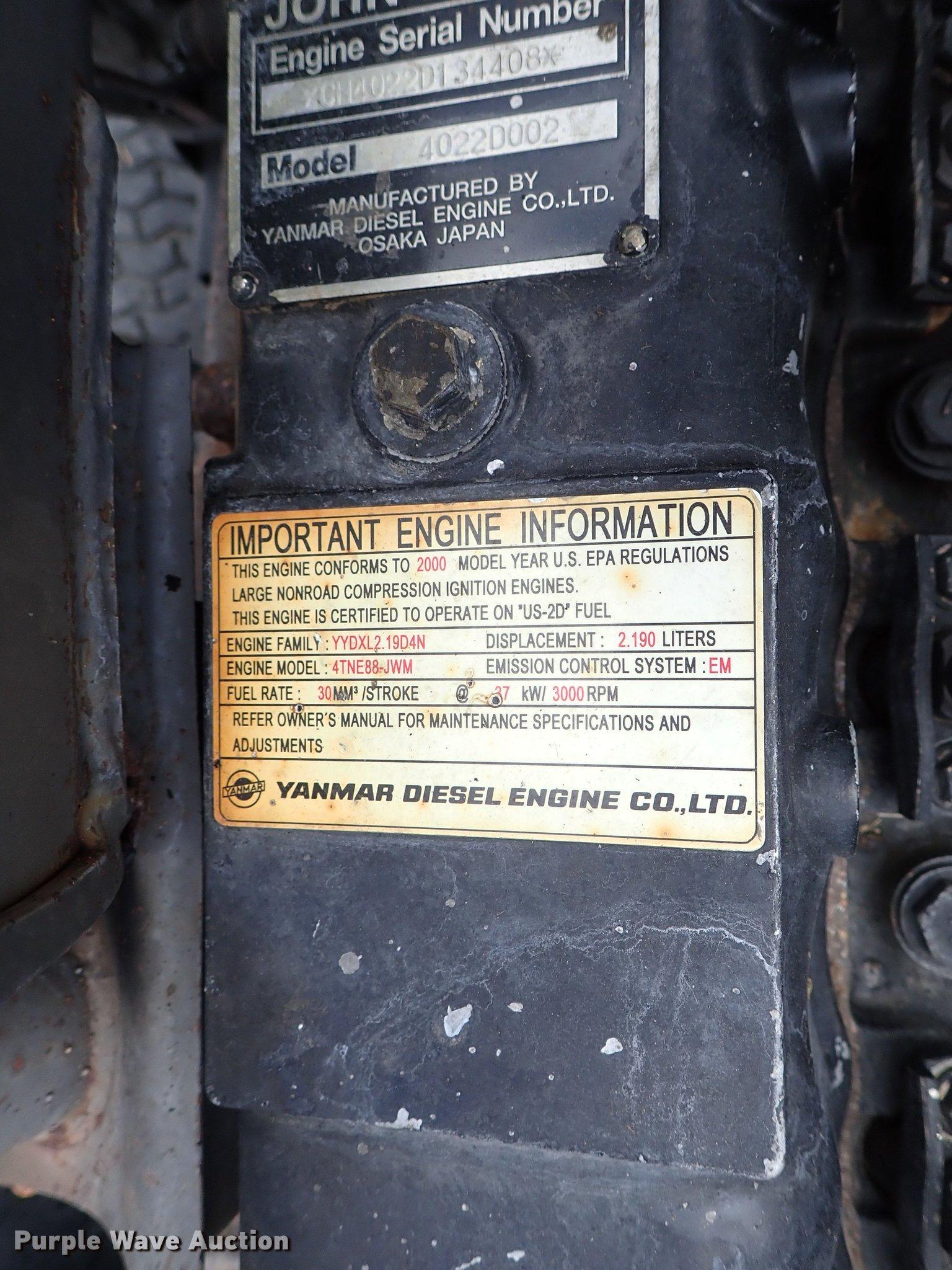 John Deere 1600 mower | Item DF1180 | Wednesday June 5 Vehic