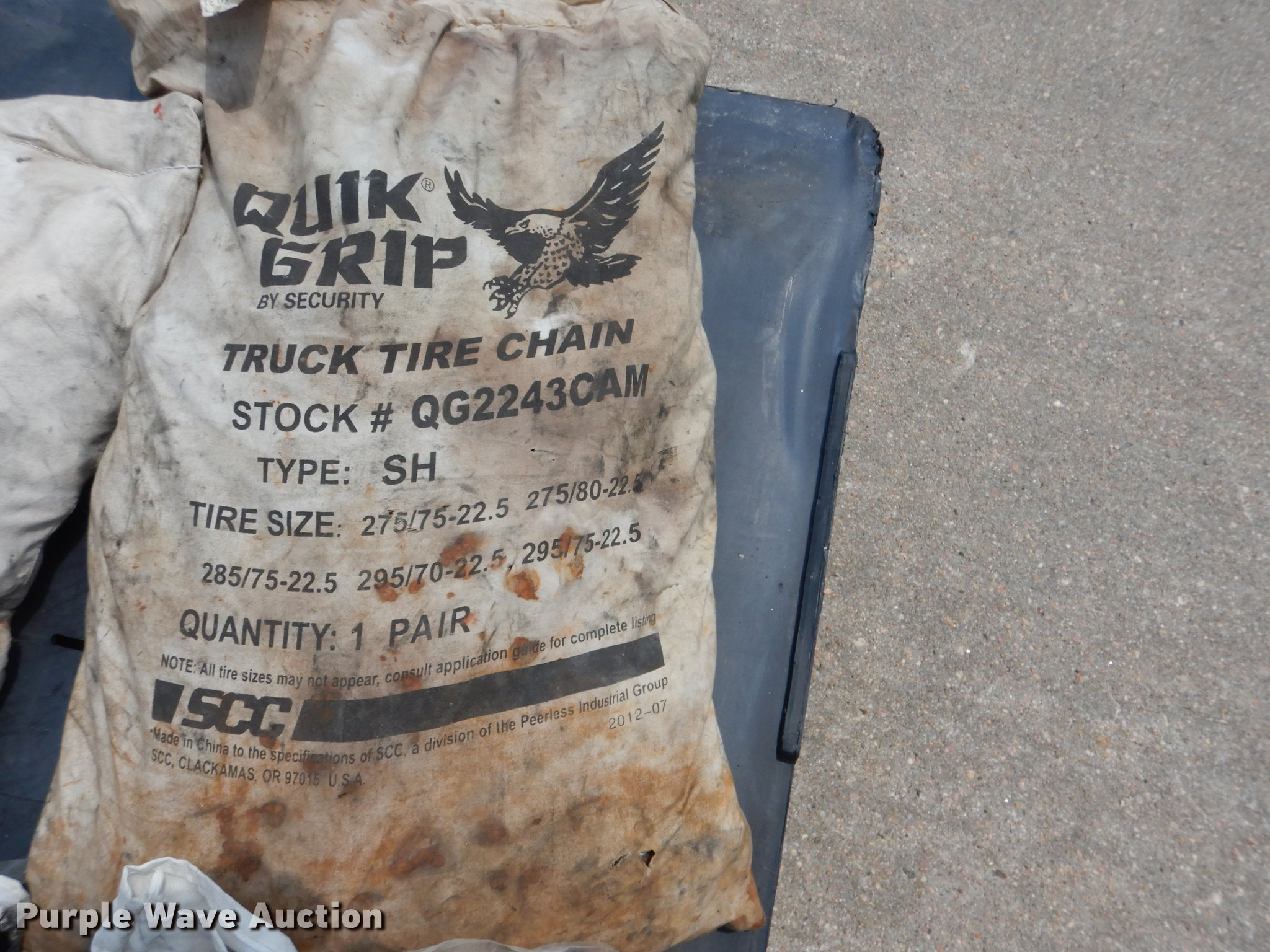 Tire chains | Item DG5800 | SOLD! June 27 Truck and Trailer