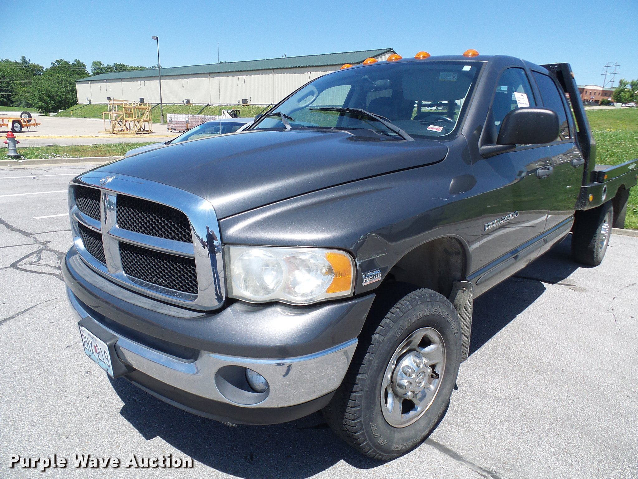 2004 Dodge Ram 2500 Quad Cab Flatbed Pickup Truck In Columbia Mo Item Db2193 Sold Purple Wave