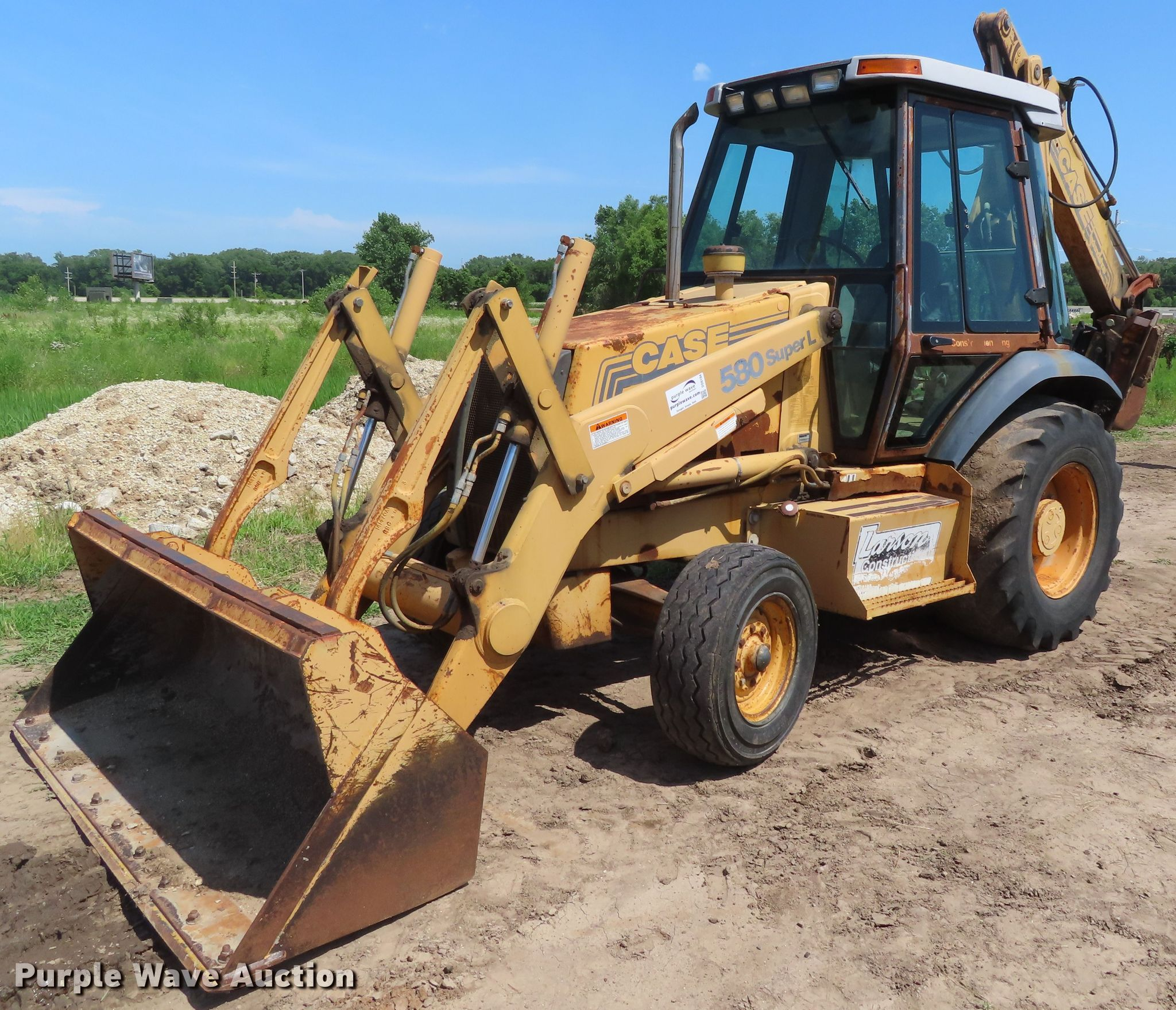 1996 Case 580 Super L backhoe | Item DD6194 | SOLD! July 25