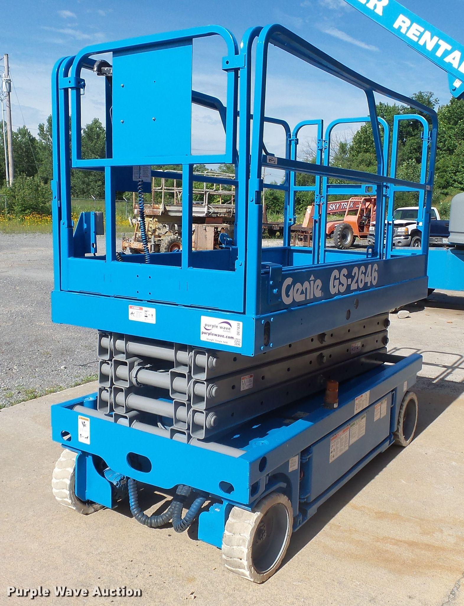Genie GS2646 scissor lift | Item DE7830 | SOLD! July 25 Cons
