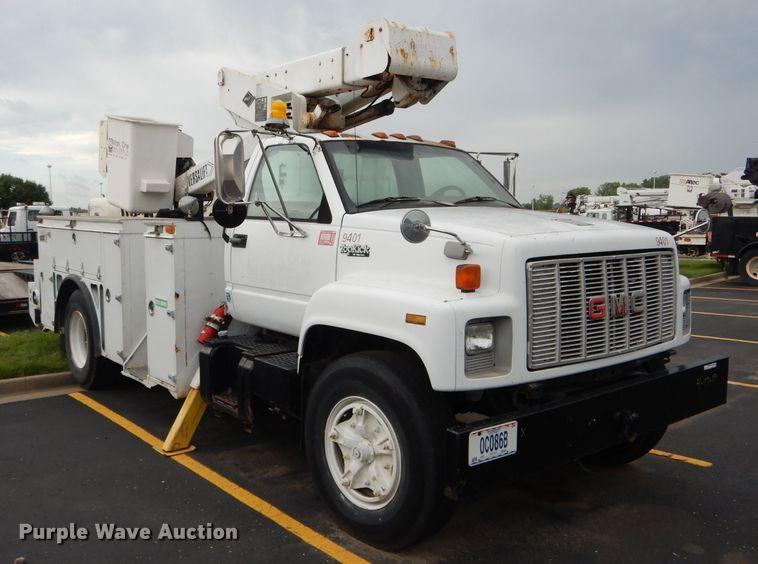 1994 GMC TopKick C6500 bucket truck   Item EU9877   Tuesday