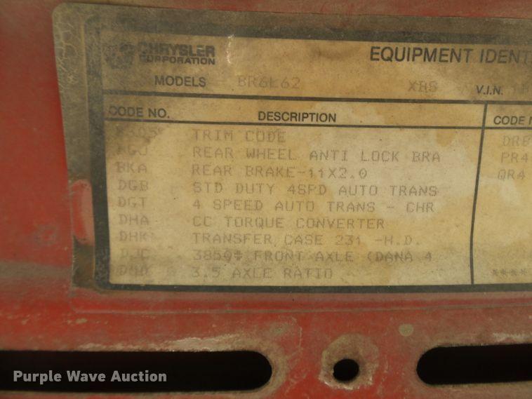 1996 Dodge Ram 1500 pickup truck | Item DE7839 | Tuesday Aug
