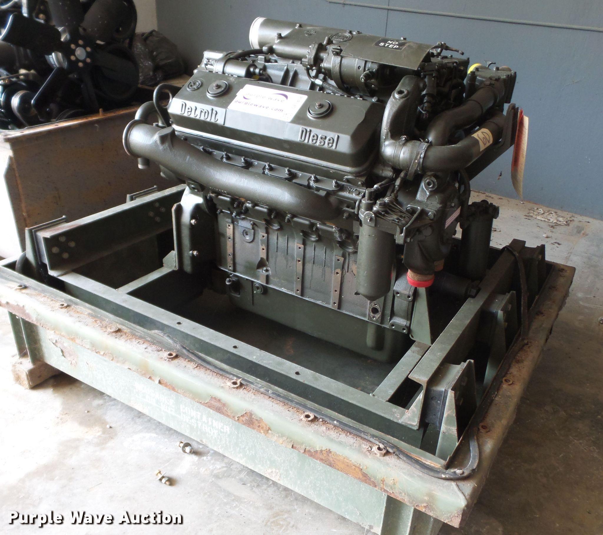 Detroit Diesel 8V71 disel engine | Item DE7858 | Tuesday Aug