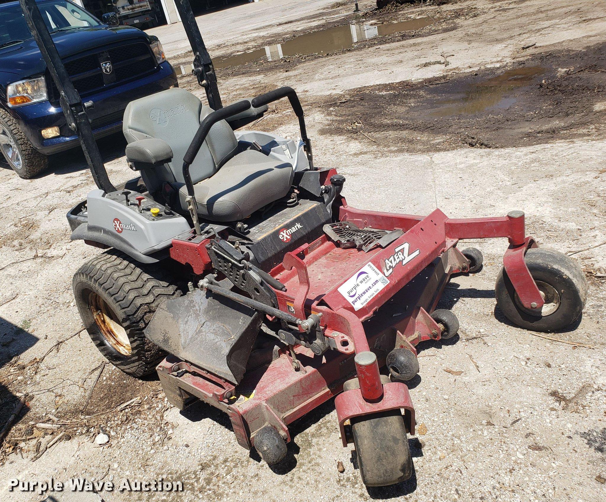 Ex Mark Lazer Z ZTR lawn mower   Item DH4550   SOLD! August