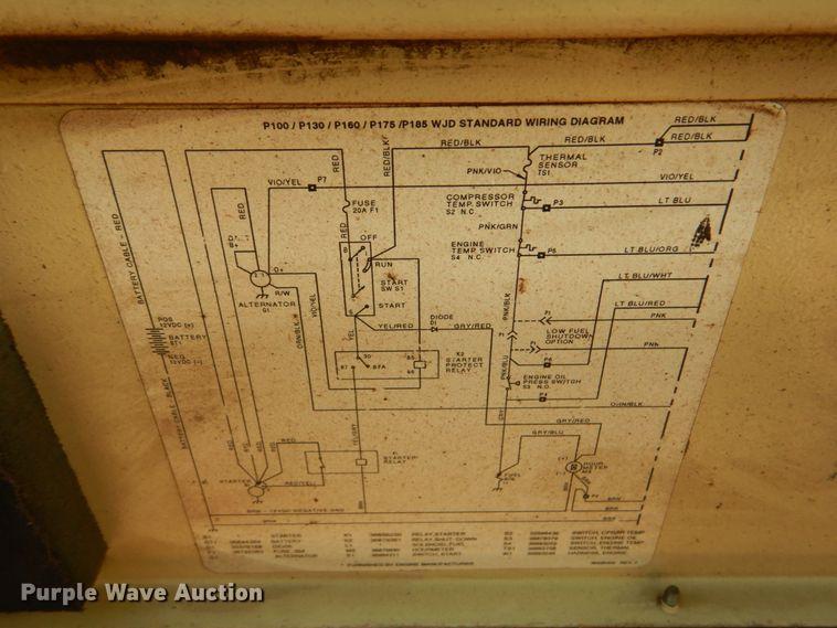[SCHEMATICS_4ER]  Ingersoll Rand 185 air compressor in Clinton, IA | Item FT9325 sold |  Purple Wave | Ingersoll Rand P185 Wiring Diagram |  | Purple Wave