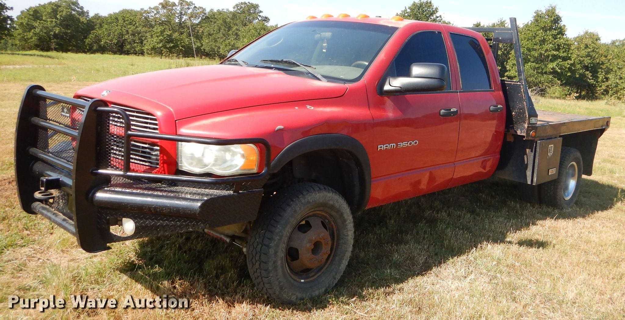 2003 Dodge Ram 3500 Quad Cab Flatbed Pickup Truck In Hominy Ok Item Fc9756 Sold Purple Wave