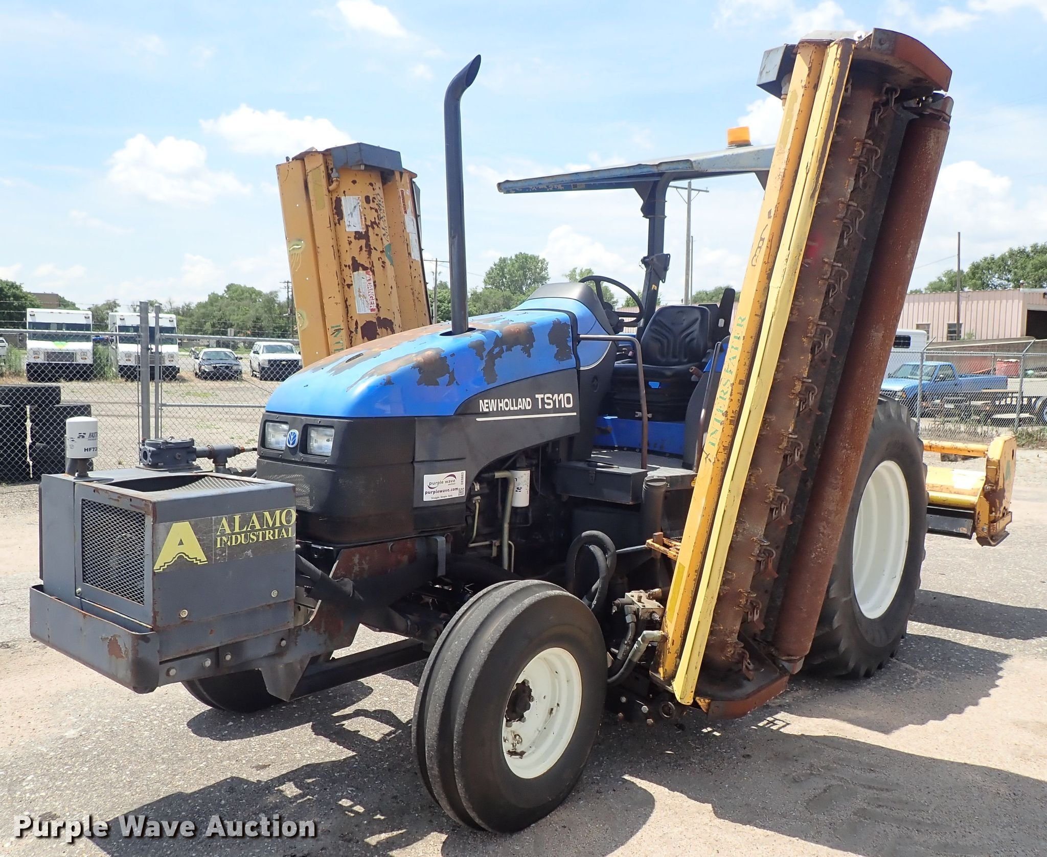 2002 New Holland TS110 MFWD tractor   Item DE0883   Tuesday
