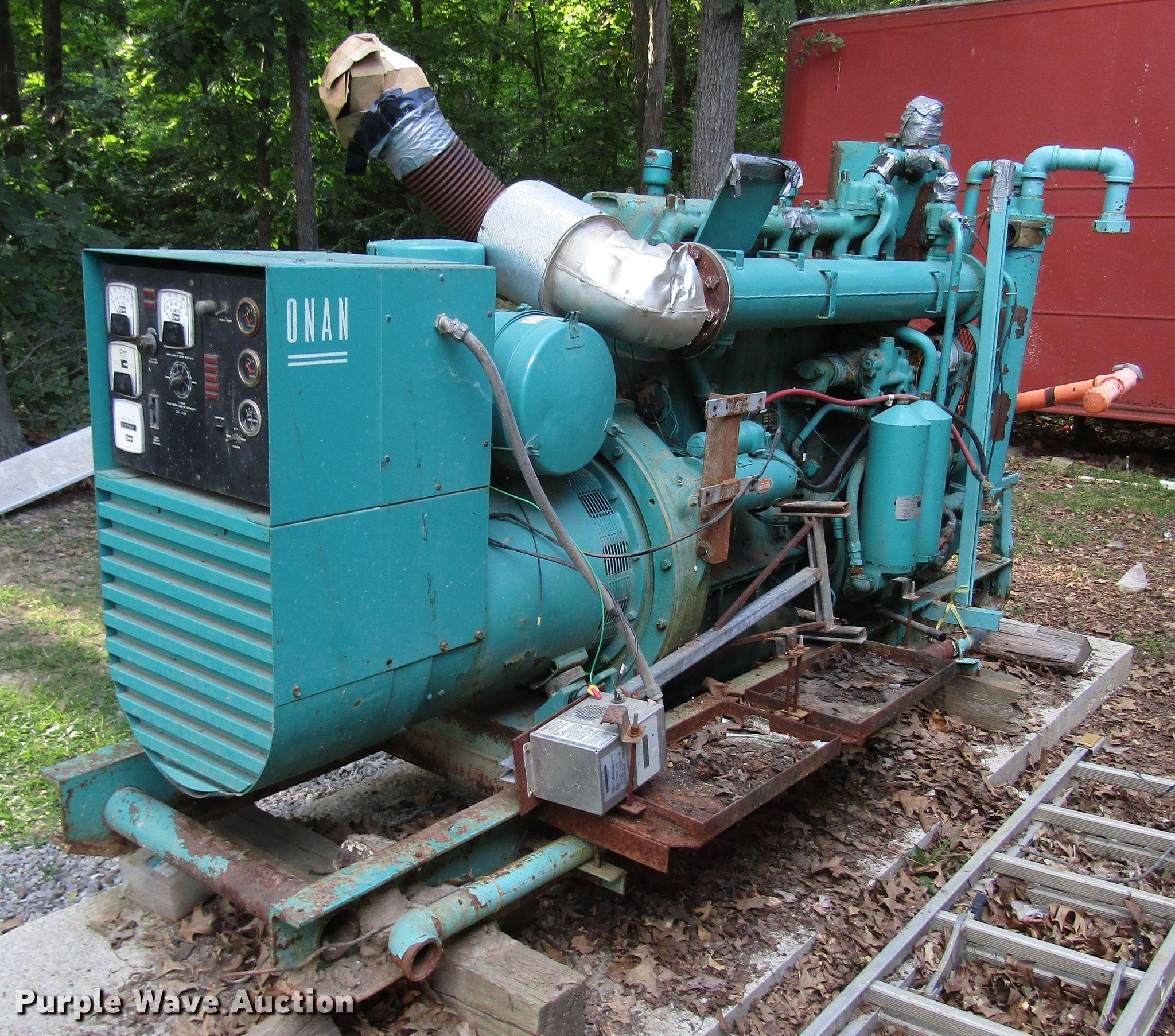 Onan generator   Item FJ9747   Wednesday September 18 Vehicl