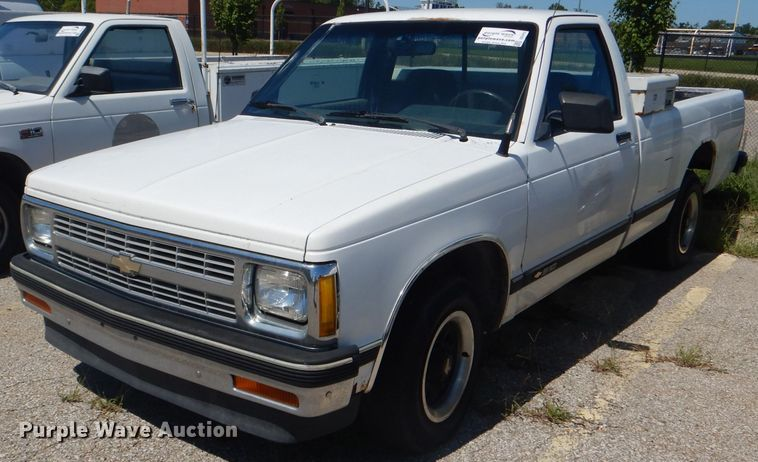 1992 Chevrolet S10 Pickup Truck In Kansas City Ks Item Dg4912 Sold Purple Wave