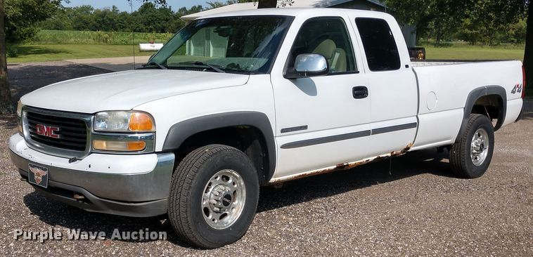 2000 gmc sierra 2500 sle ext cab pickup truck in towanda ks item fv9114 sold purple wave 2000 gmc sierra 2500 sle ext cab