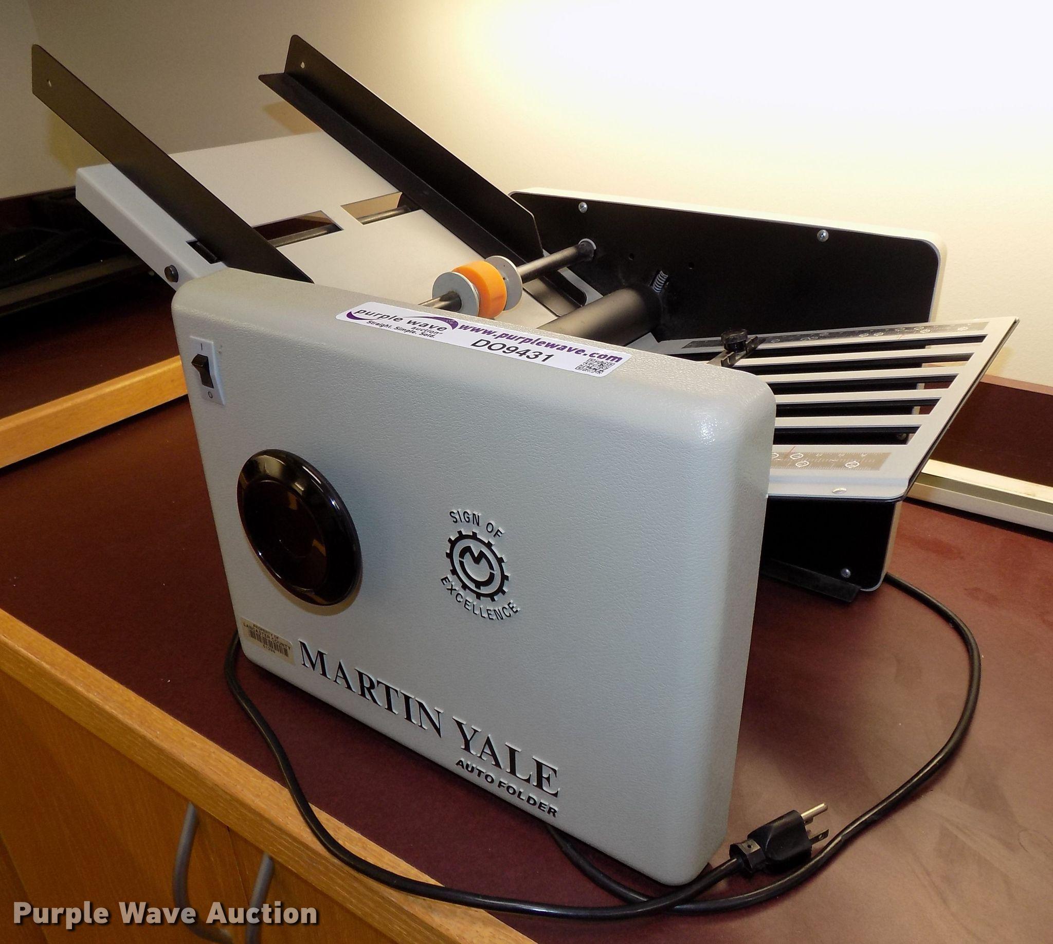 Martin Yale 1501 Cv 7 Electric Auto Folder Folding Machine In Lincoln Ne Item Do9431 Sold Purple Wave