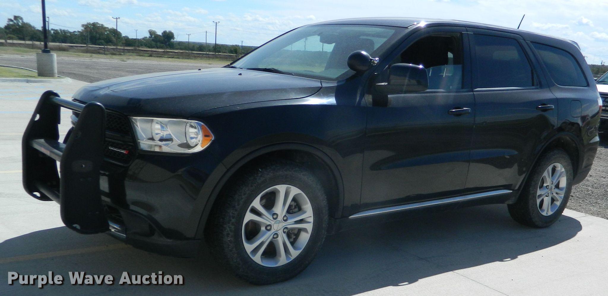 2013 Dodge Durango Police Suv In Stockton Ks Item Db4987 Sold Purple Wave