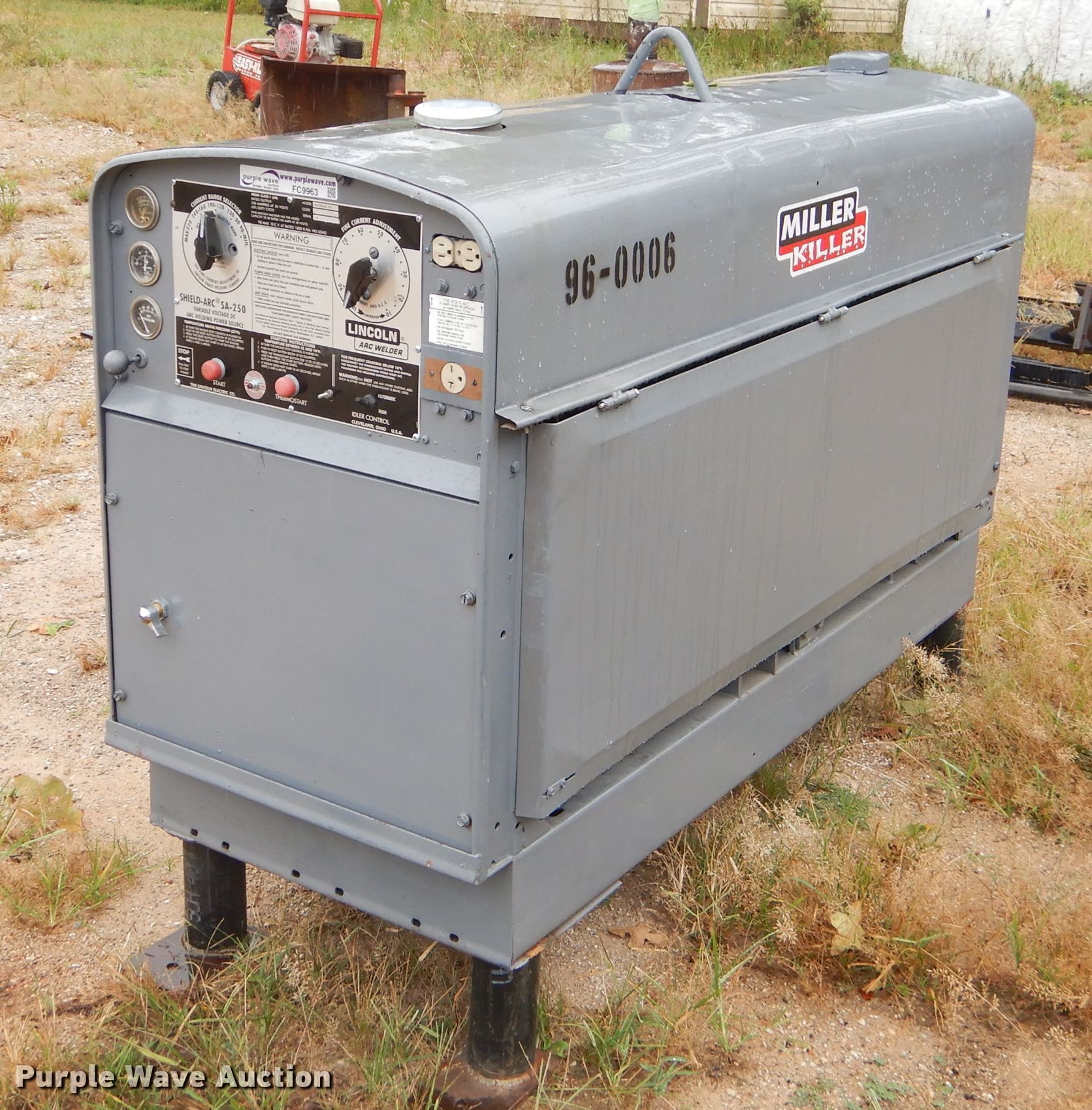 Lincoln Sa 250 D3 152 Arc Welder In Cassville Mo Item Fc9963 Sold Purple Wave