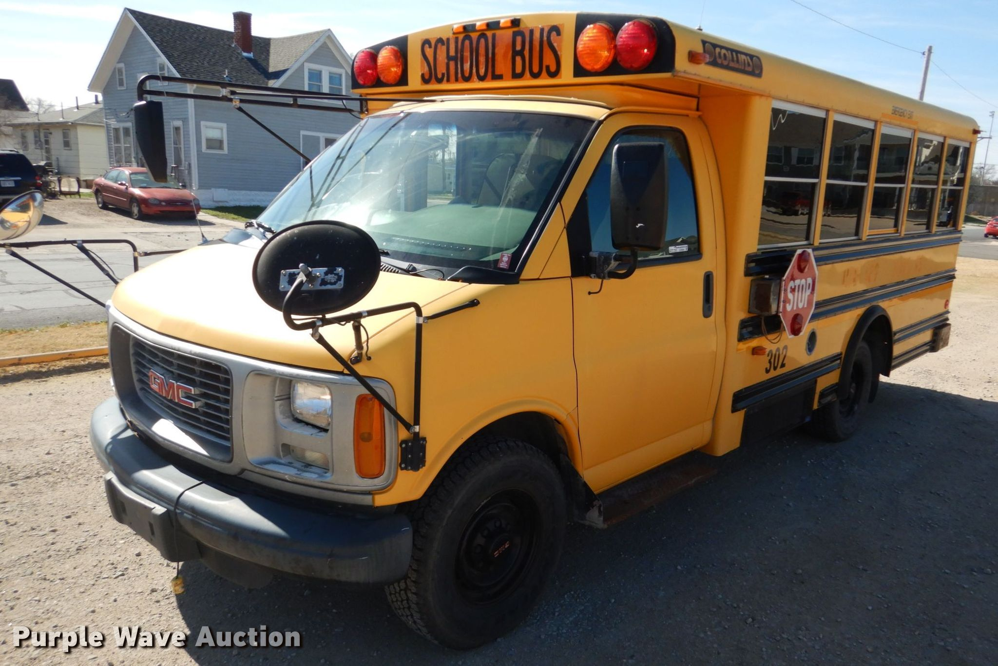 2001 gmc savana g3500 collins school bus in hays ks item gx9894 sold purple wave 2001 gmc savana g3500 collins school