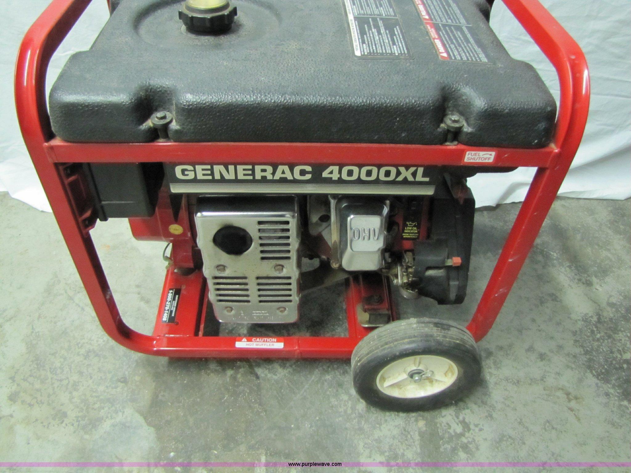 Generac 4000XL Generator | Item 2002 | SOLD! November 16 Nev